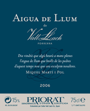 Aigua de llum de Vall Llach 2006