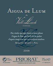 Aigua de llum de Vall Llach 2008
