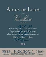 Aigua de llum de Vall Llach 2012
